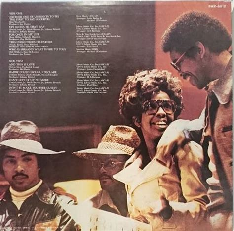 Gladys Knight And The Pips / Neither One Of Us (グラディス・ナイト&ザ