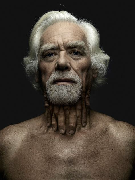 hybrid-human figures sprout fingers and hands from their faces